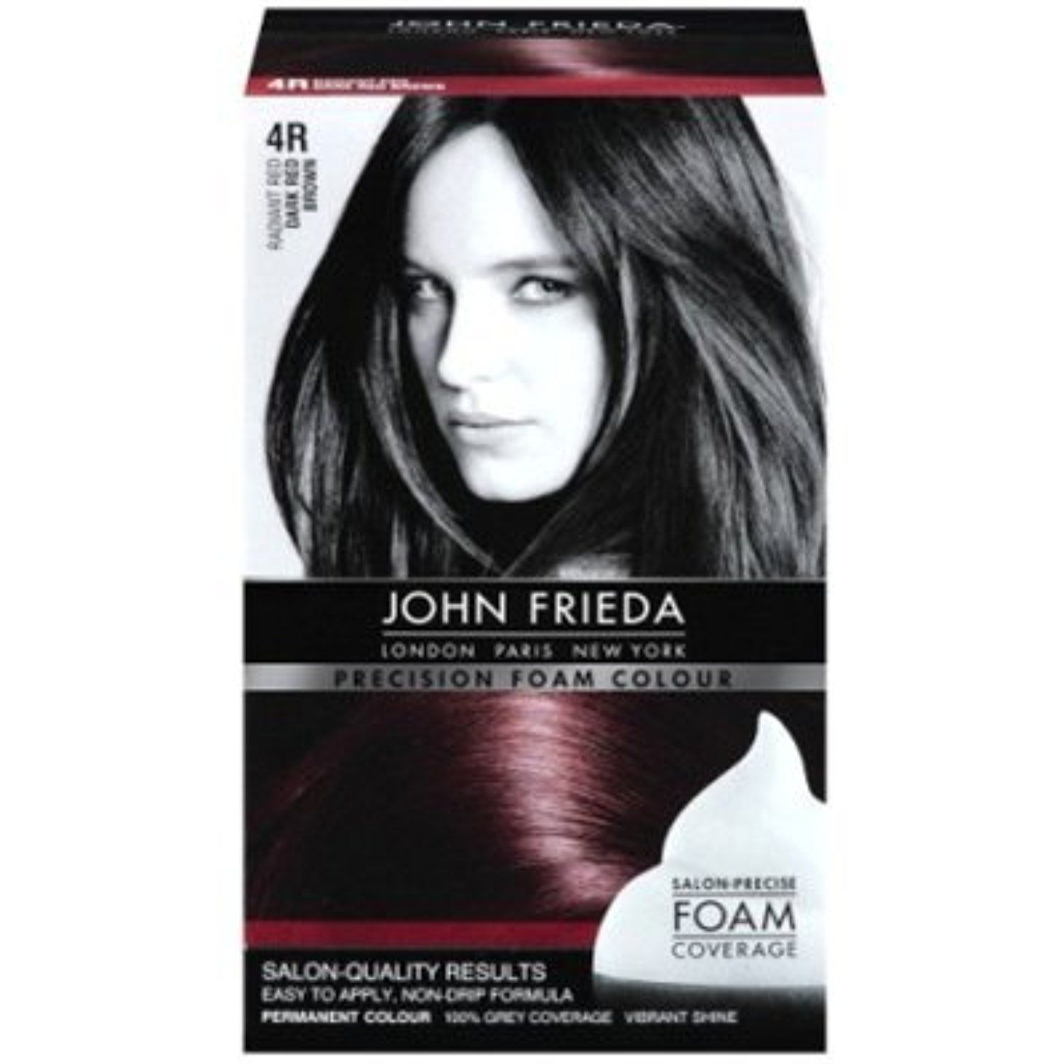 John Frieda Precision Foam Colour 4r Dark Red Brown 2 Pack