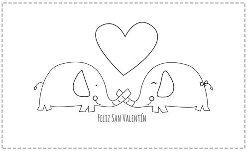 Tarjetas de San Valentín para colorear | Pinterest | Silhouettes ...