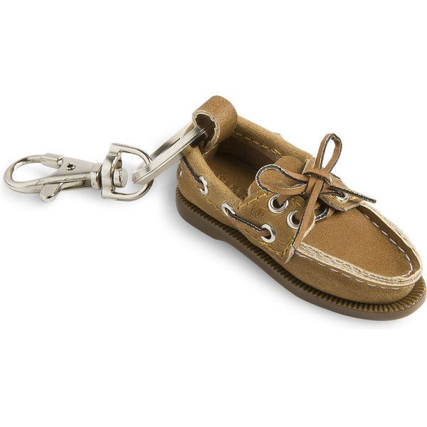 Sperry Top-Sider Authentic Original Boat Shoe Key Chain ( 10) ❤ liked on  Polyvore featuring tan 47f9fb564