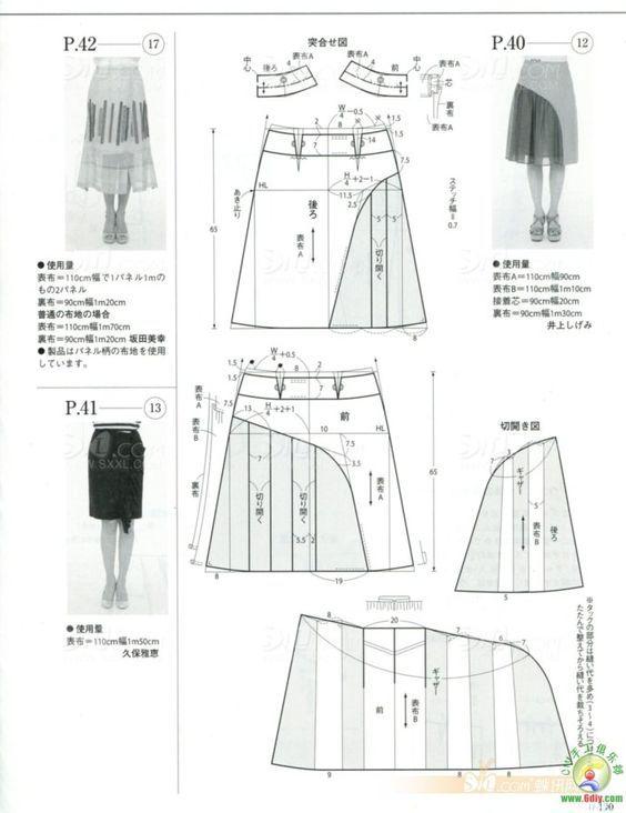 Skirt: | Patrones | Pinterest | Patron falda, Costura y Patrones