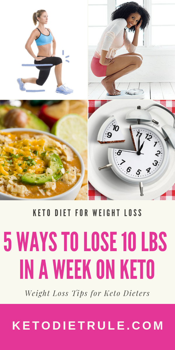 Keto Weight Loss - How to Lose 10 Pounds in a Week on Keto