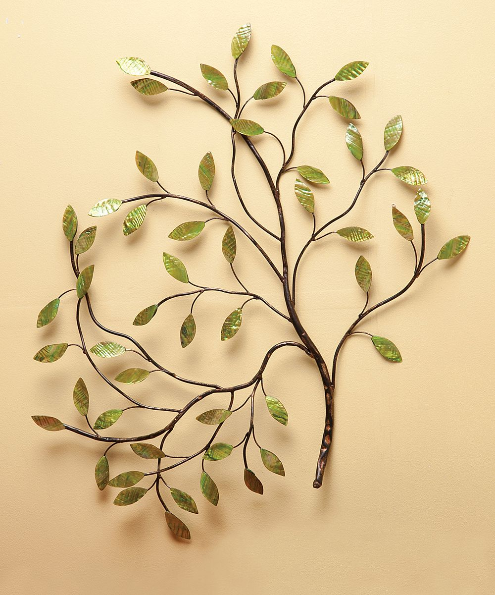 Metal Tree Wall Décor | zulilyPRODUCT DESCRIPTION: A little shine ...