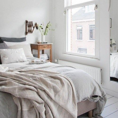 bright and cheerful.bedroom in european apartment  @reifhaus  #linen #linens #interiordecor