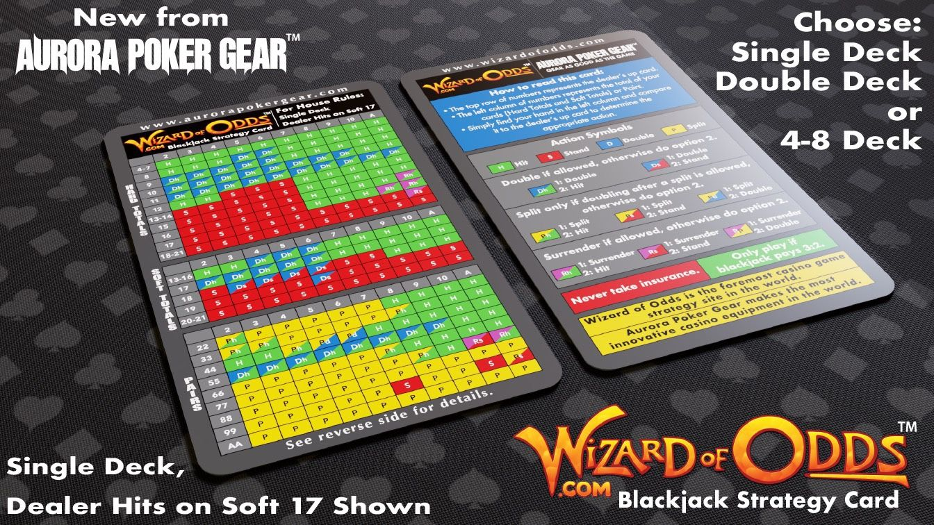 Ever wish you could find a blackjack strategy card for