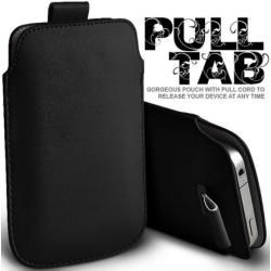 Photo of iPhone Xs Max leather case with pull-out tab in black