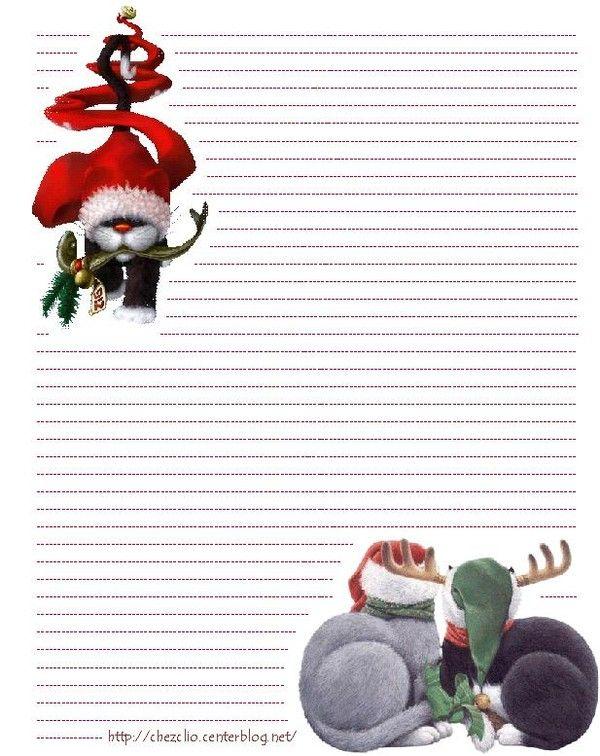 Joli papier à lettre noel format word | Lettre de noel ...