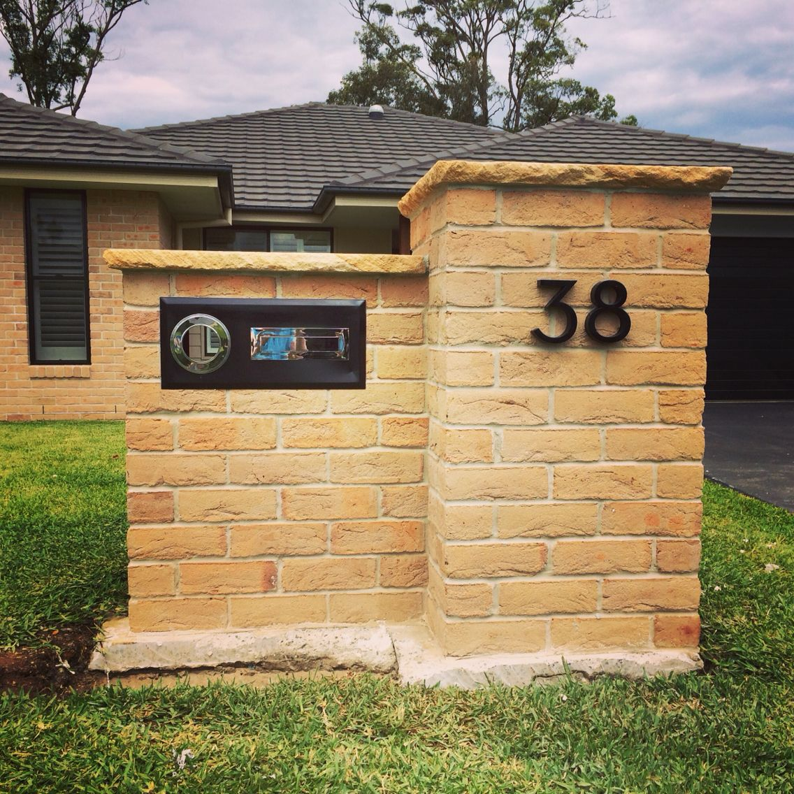Brick and sandstone letterbox, just needs the garden. Beautiful ...
