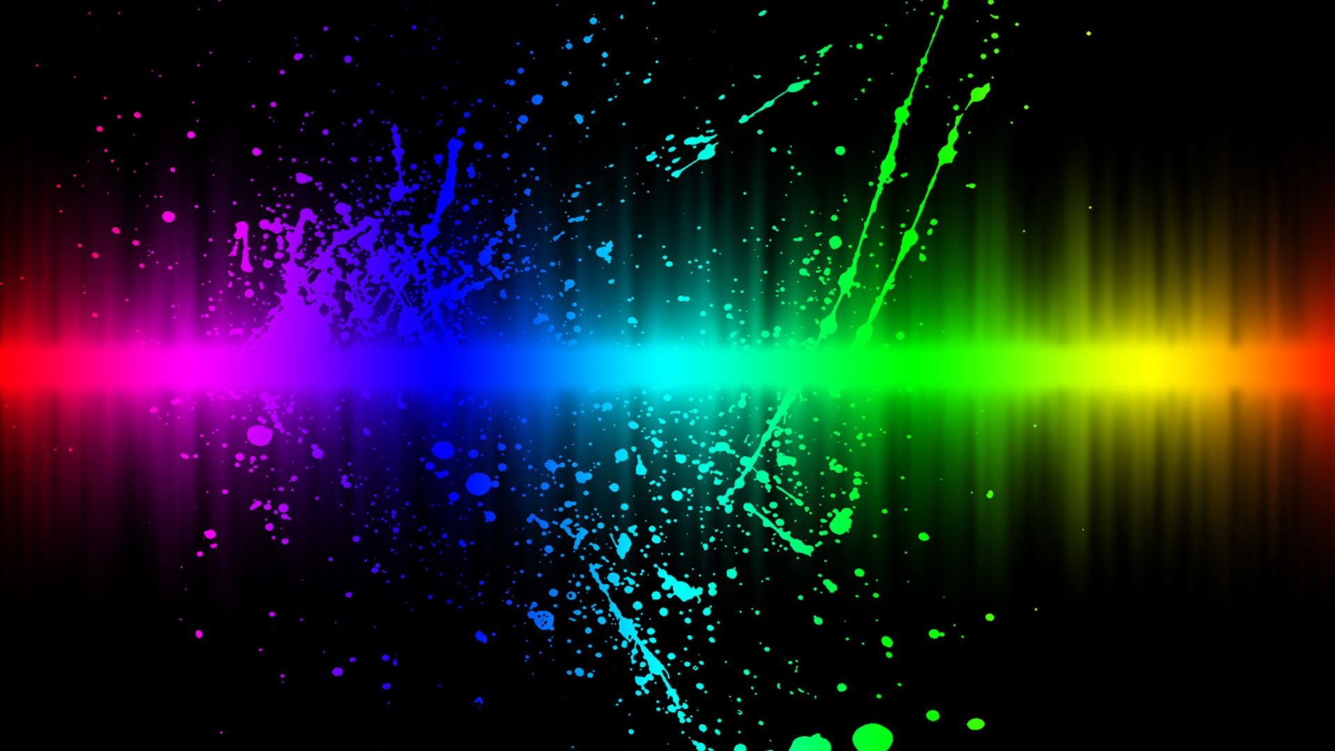 Neon Lights HD Wallpaper