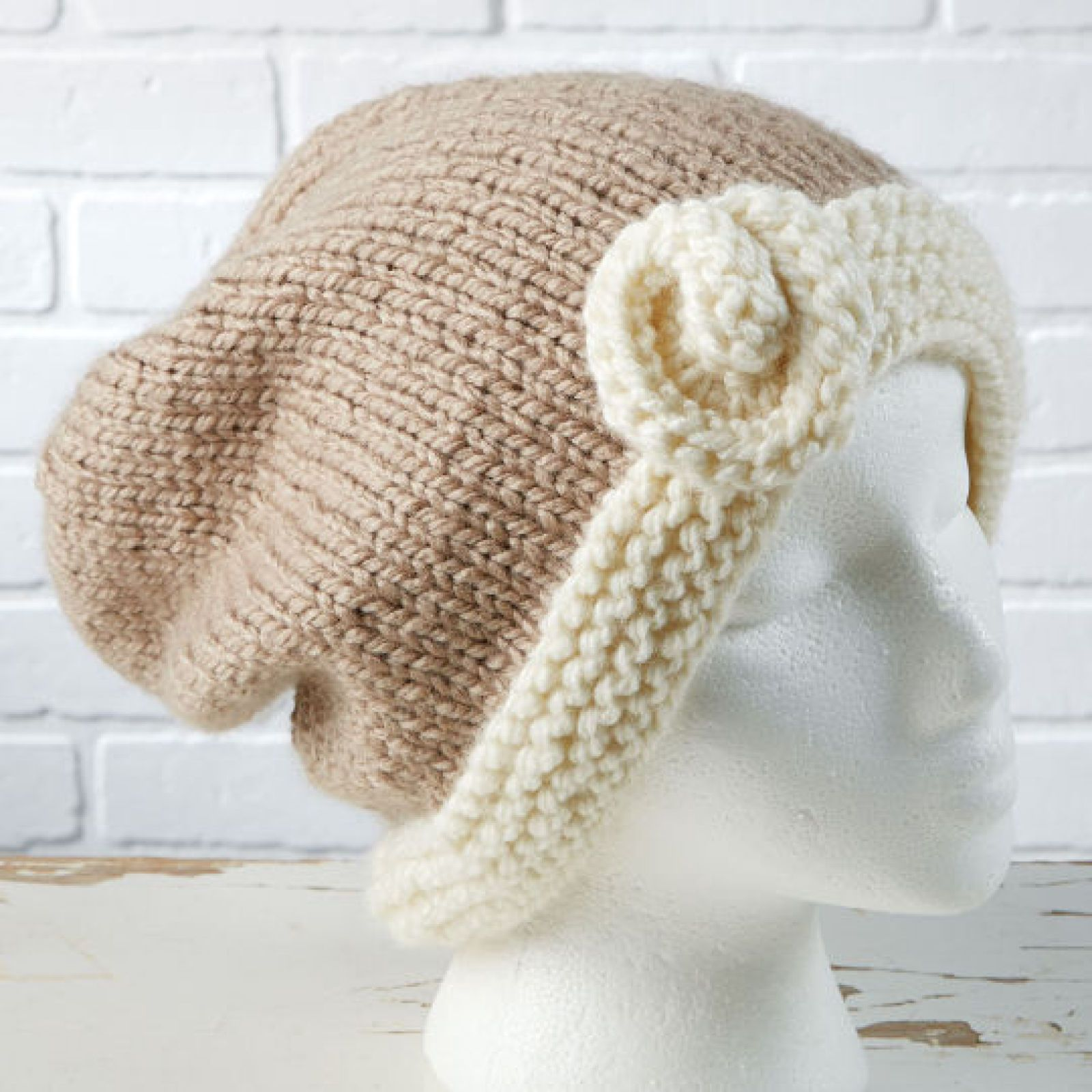 Loops & Threads® Charisma™ Flower Accent Slouchy Hat (Knit) | Items ...