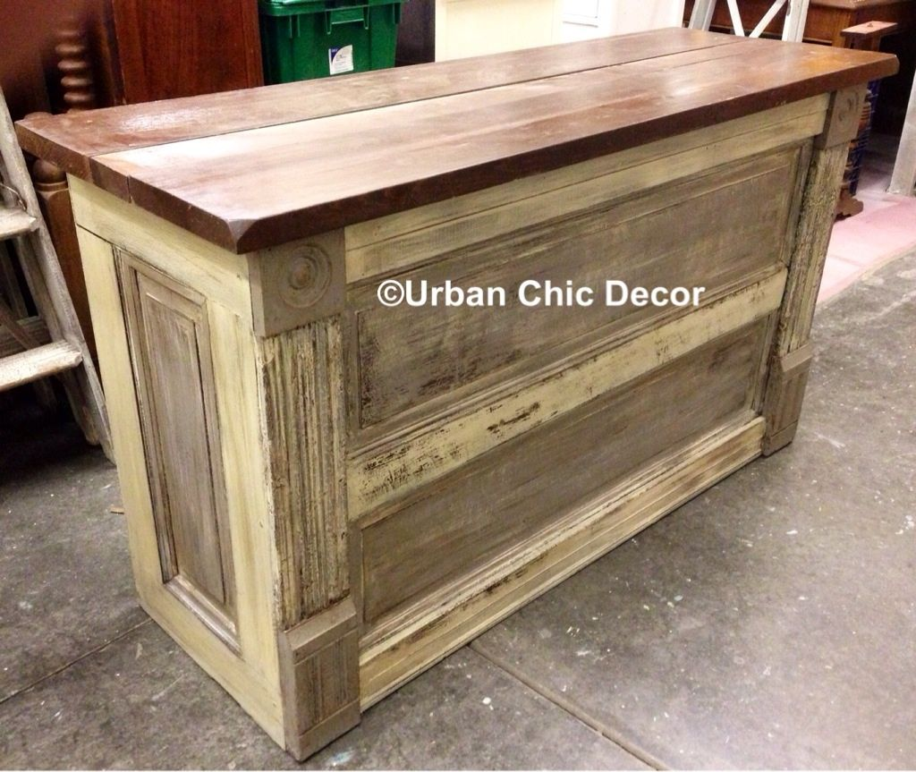 Urban Chic Kitchen Island constructed from a vintage door, salvaged ...