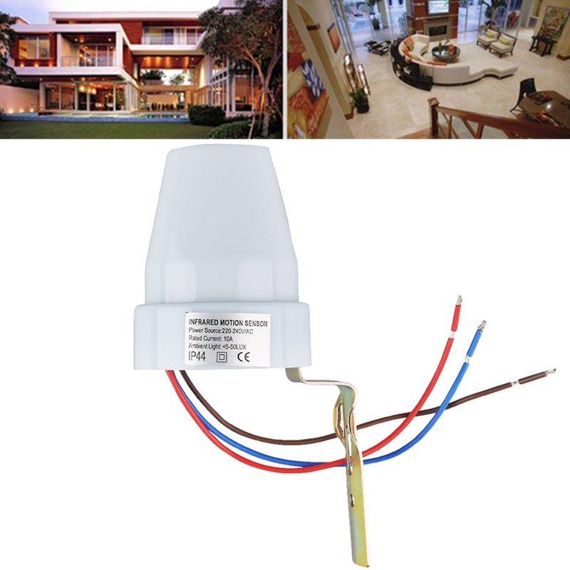 Ac220 240v 10a Outdoor Automatic Light Sensor Control Switch For Garden