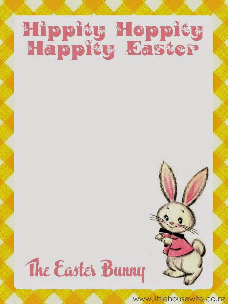 letter to easter bunny template - little housewife free easter printable letter from the