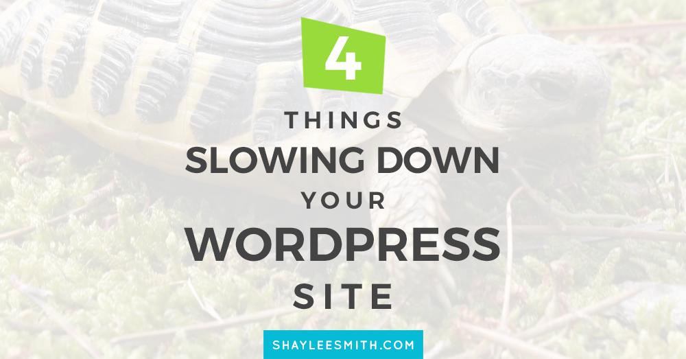 4 Things Slowing Down Your WordPress Website WordPress Tips