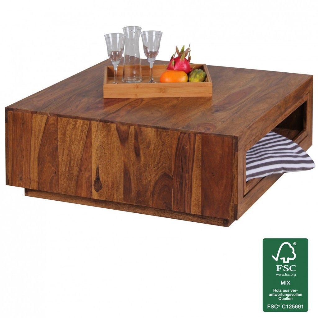 Beeindruckend Couchtisch Holz Massiv Sammlung Von Finebuy Sheesham 88 X 88 X 35