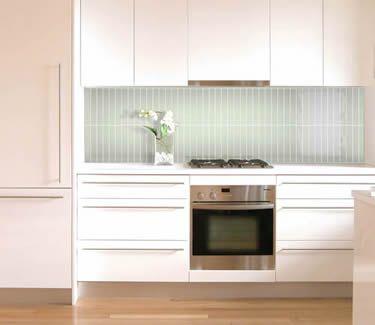 Kitchen Splashback With Matrix Tile Menthol Format 12