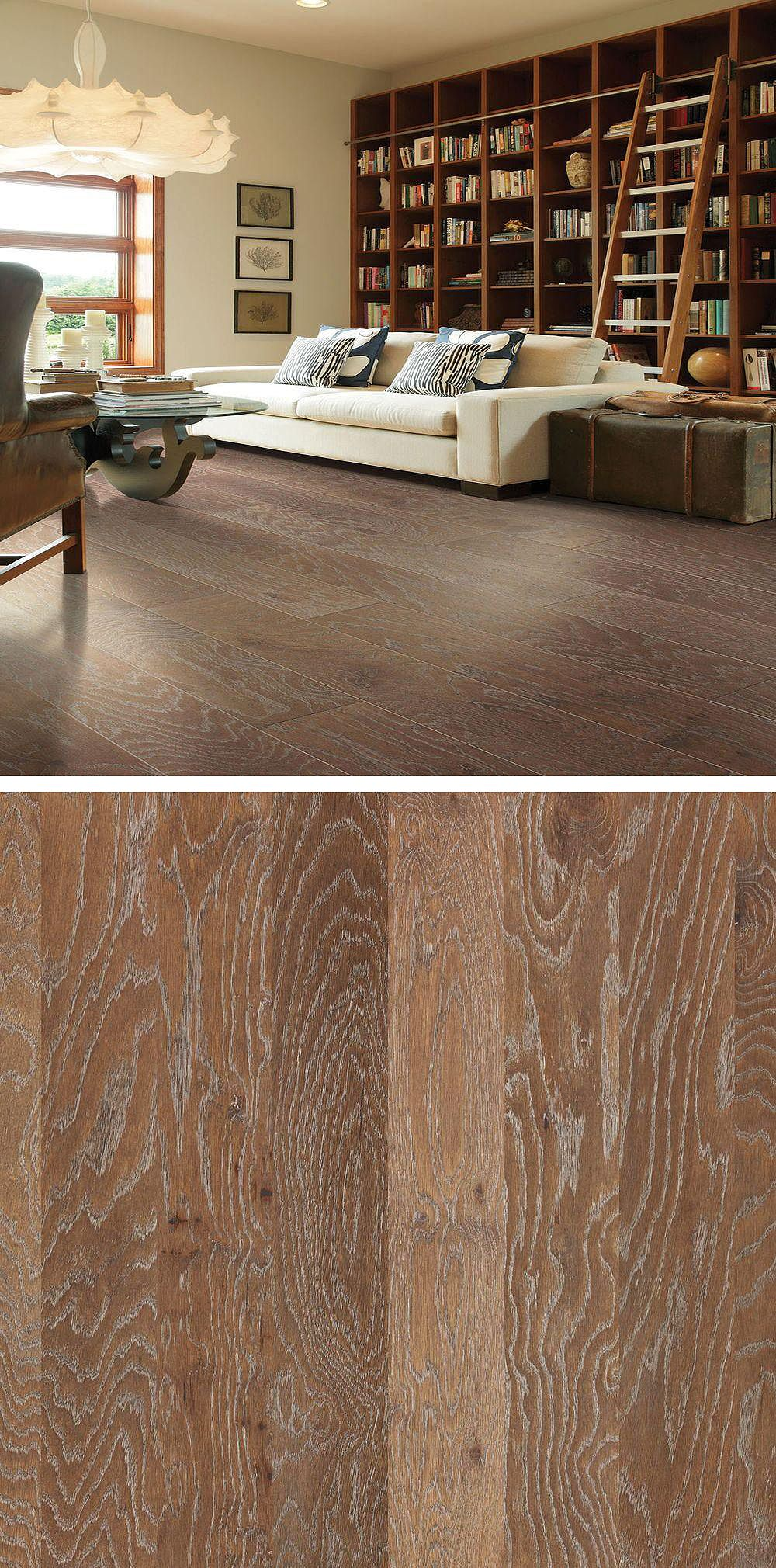 Collegiate Engineered Hardwood Flooring Offers Wide Planks That Have Been Beautifully Wire Brushed And The Grain Highlighted With White Against Richly