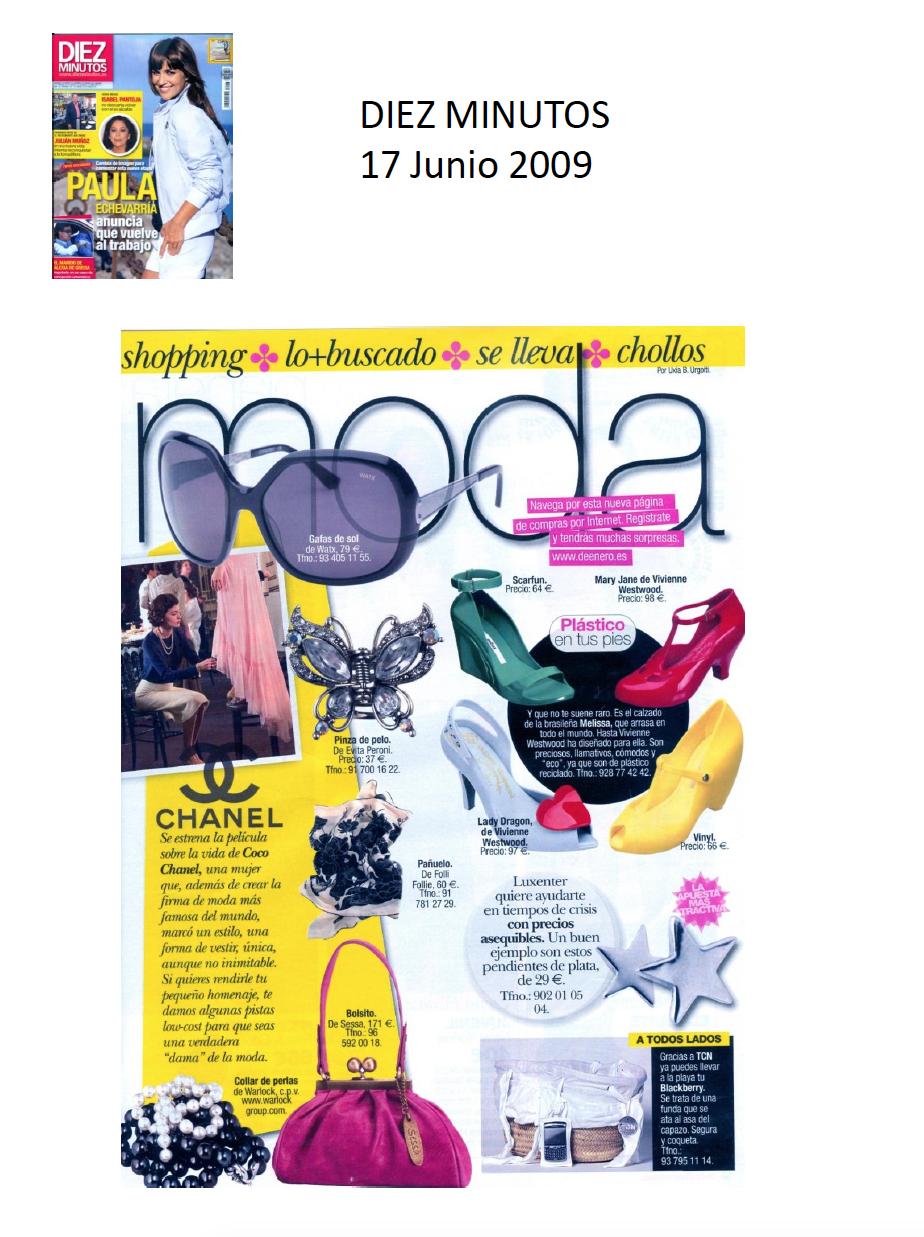 #Colaboraciones con la #Revista DIEZ MINUTOS. Junio 2009.