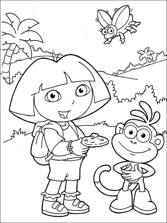 Dora the Explorer Coloring Pages 101 | Coloring pages for kids ...