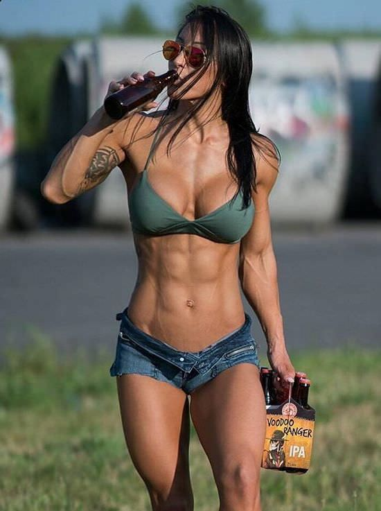 Sexy gorgeous with hot abs, fit girl