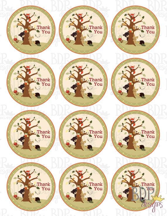 PRINTABLE Lambs and Ivy Echo Party Favor Thank You tags (2 ...