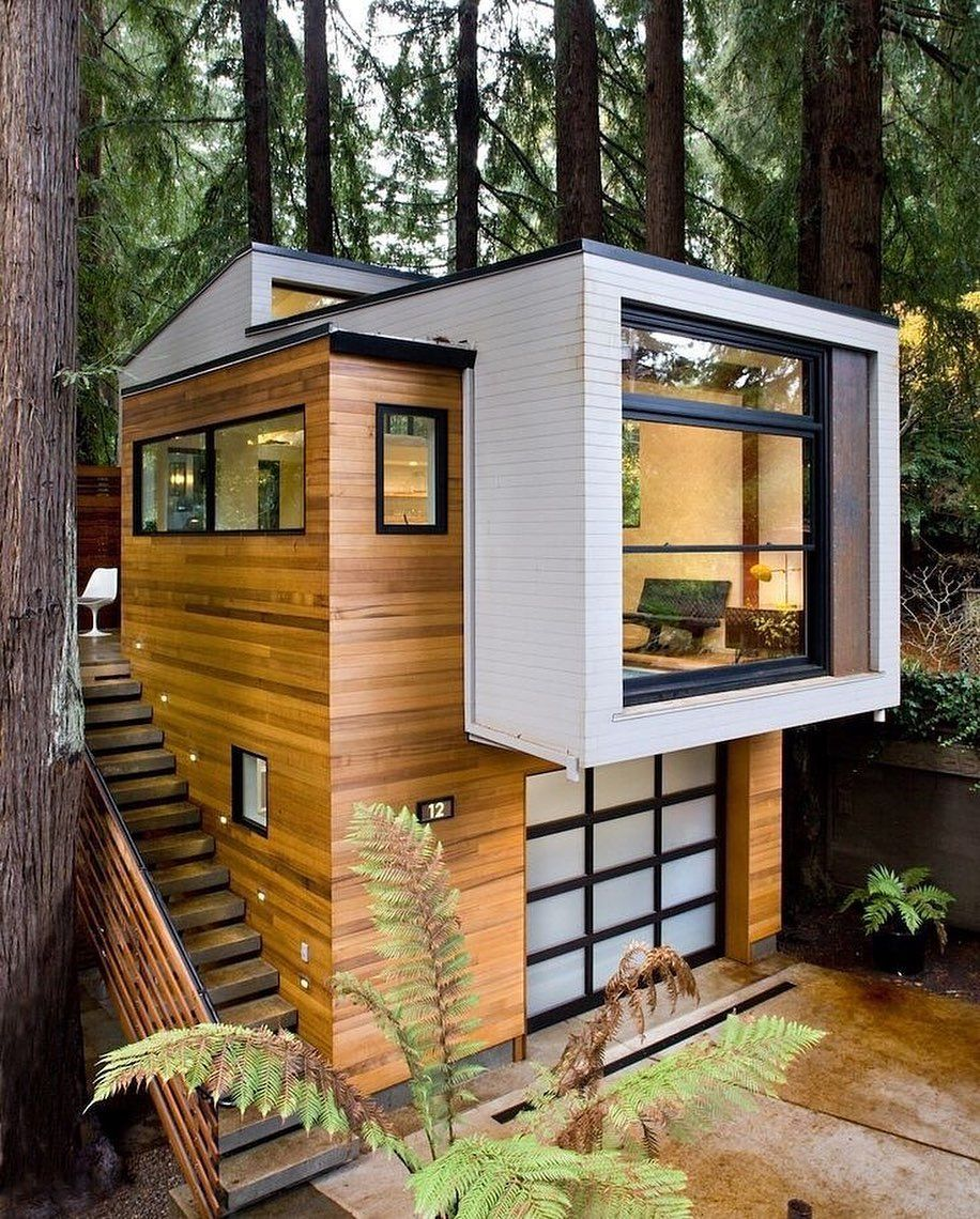 Tiny House Attractive On Instagram All What I Need Credit Lara Architects Follow Tinyhousea Tiny House Exterior Modern Tiny House Modern House Design