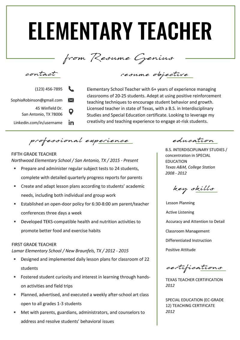 Tips on How to Build a Good Preschool Teacher Resume