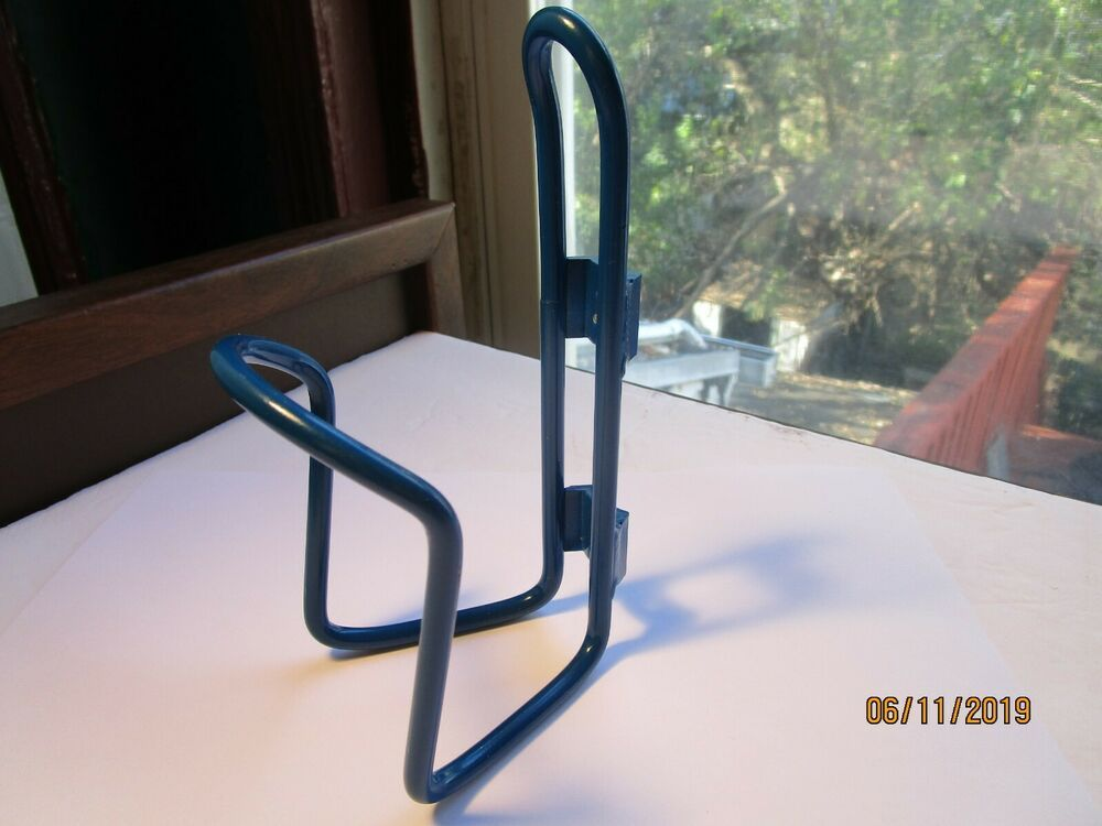 Details About Blue Metal Bicycle Water Bottle Cage Nos With