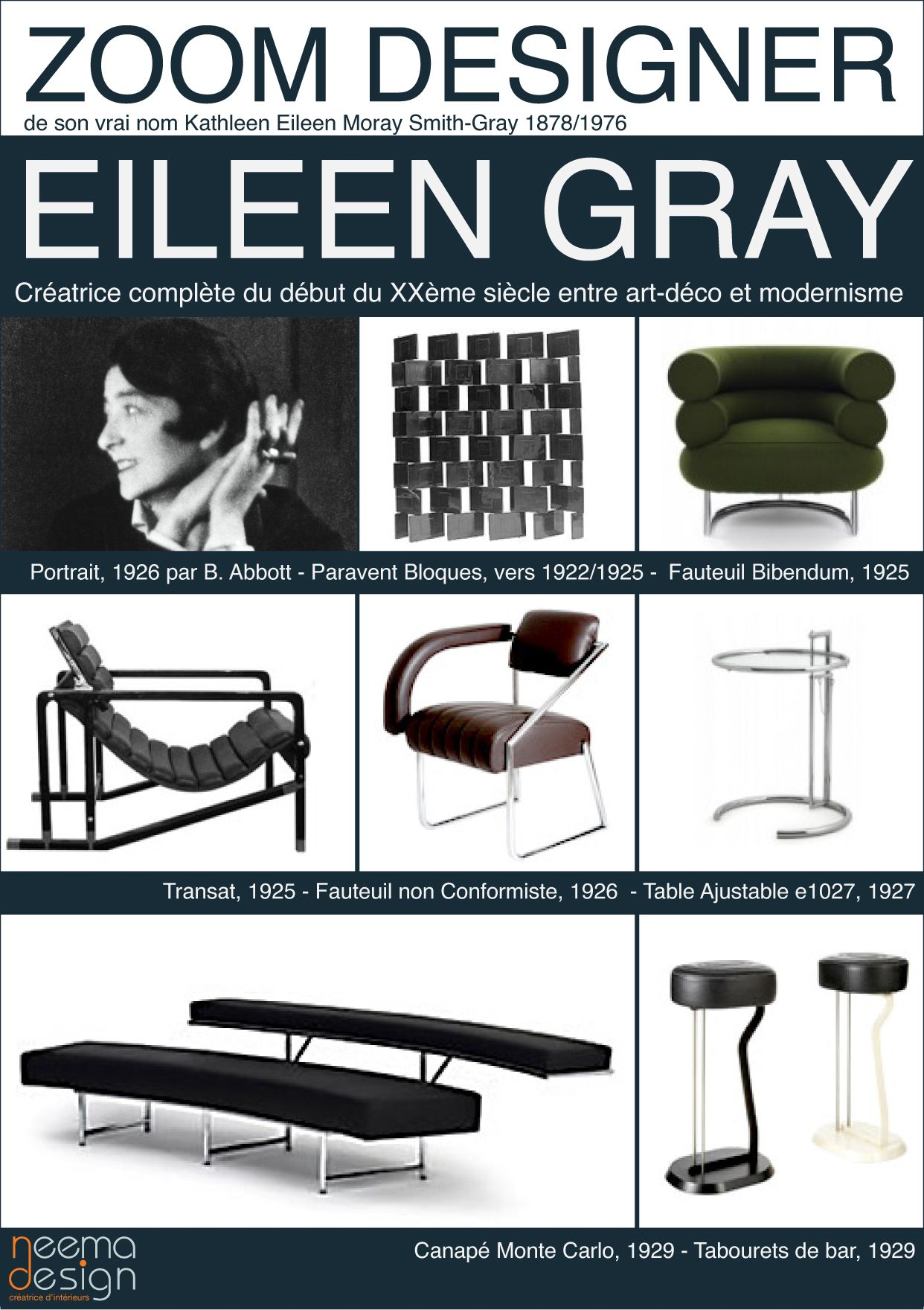 eileen gray eileen gray pinterest m beldesign stuhl design und m bel. Black Bedroom Furniture Sets. Home Design Ideas