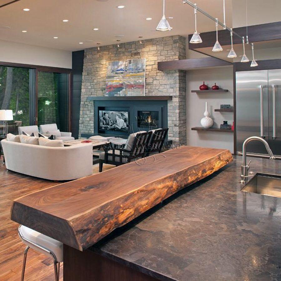 Cucine Moderne In Noce Nazionale.Top Snack Per La Cucina In Legno Massello Design Del