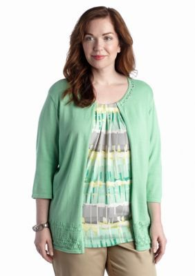 Alfred Dunner  Plus Size High Tea Collection Biadere 2Fer