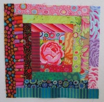 Kaffe Fassett Log Cabin Block Tutorial | Cathy Tomm Quilts