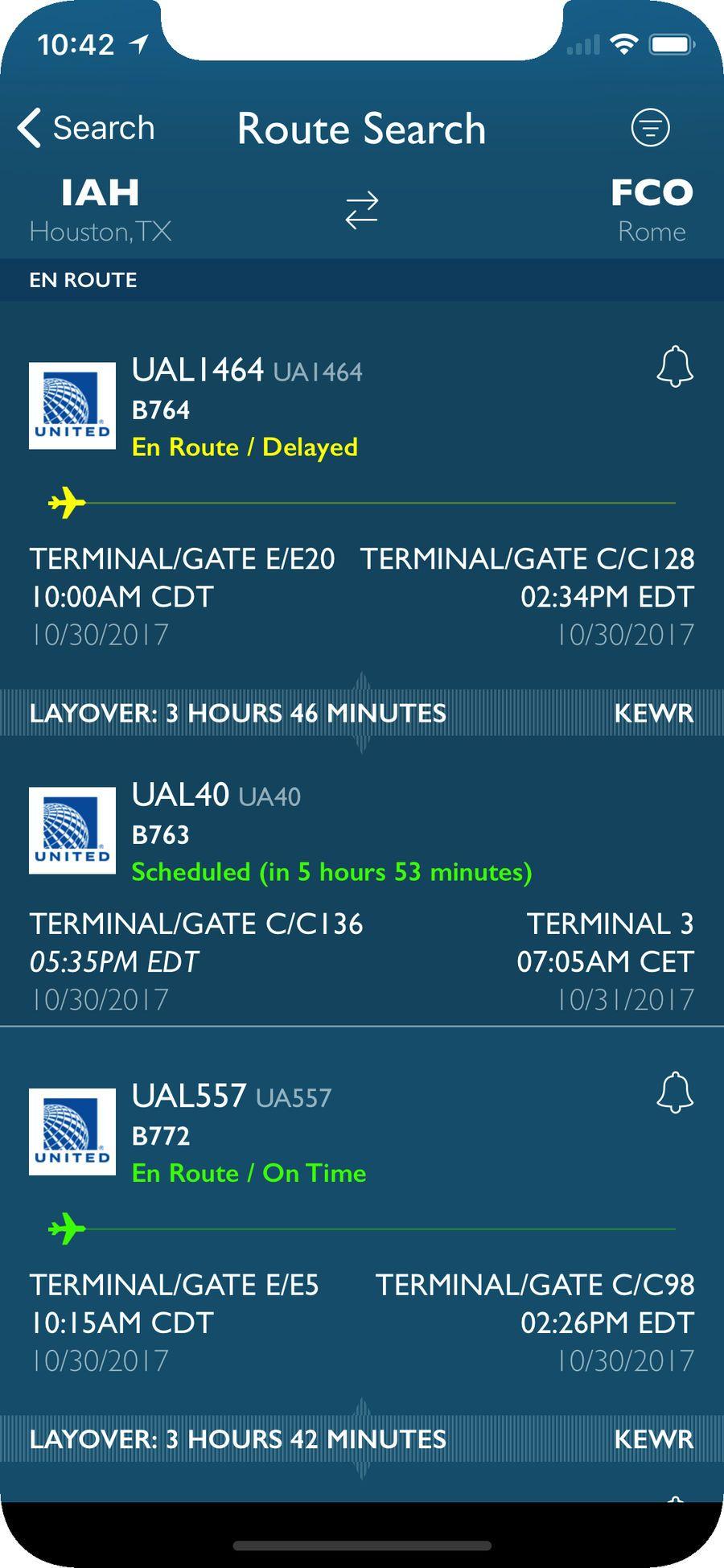 FlightAware Flight Tracker iosNavigationappapps
