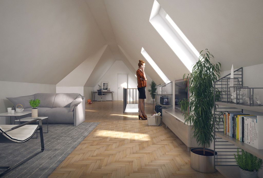Penthouse Germany by Vic Nguyen using VP BEECH WOOD PARQUET and INTERIOR PLANTS - OLEANDER