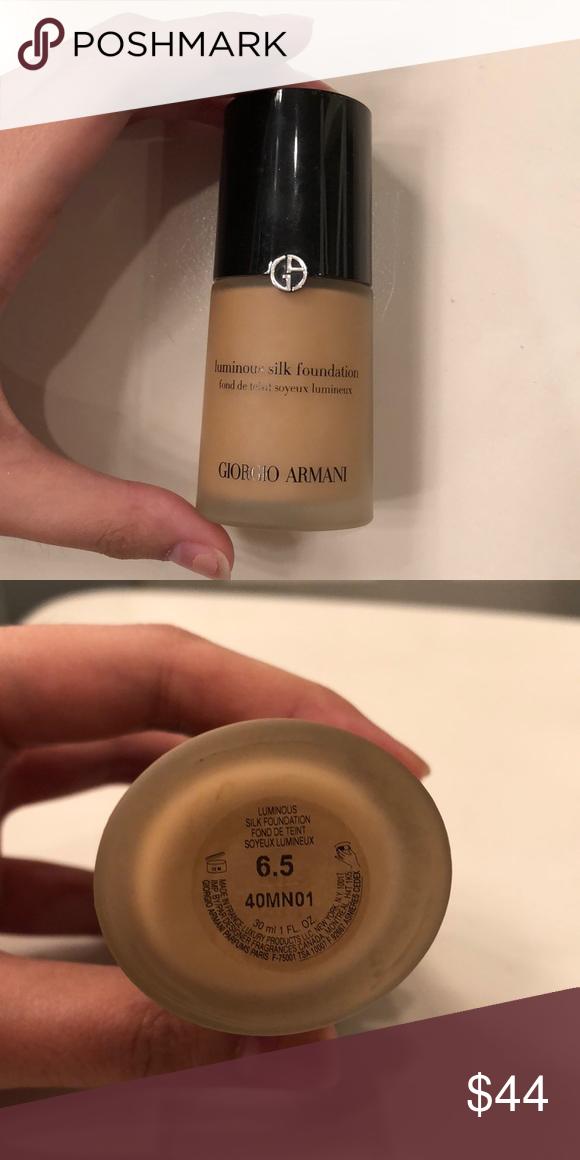 Giorgio Armani Luminous Silk Foundation 6 5 Shade 6 5 Used Giorgio Armani Makeup Foundati Giorgio Armani Luminous Silk Luminous Silk Foundation Giorgio Armani