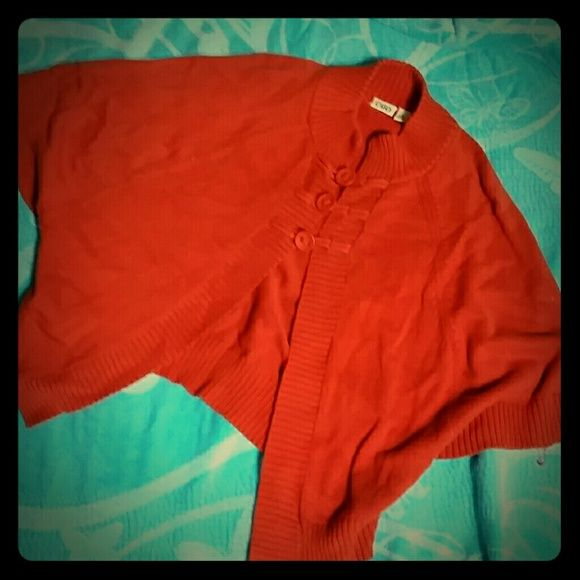 Batwing sweater Nice fall shade of orange. Medium but could also fit a large. Worn a handful of times. In like new condition. Super cute with jeans and tall boots. Cato Sweaters Shrugs & Ponchos