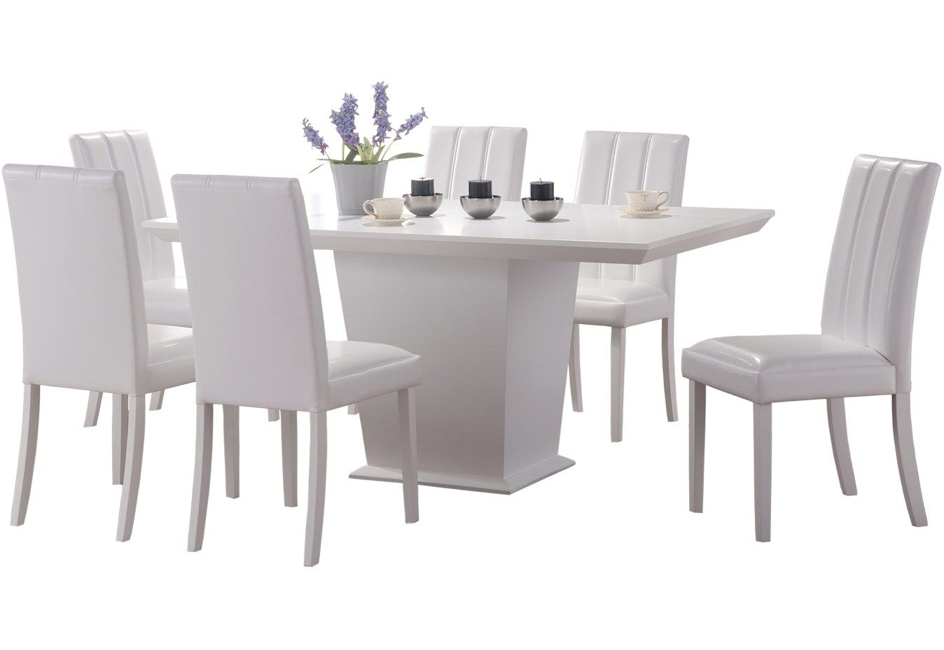 35+ Black and white dining table and chairs Trending