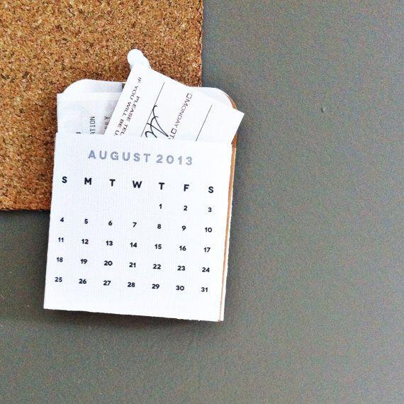 Pocketed Calendars 20132014 by elhernandez on Etsy, $4.00