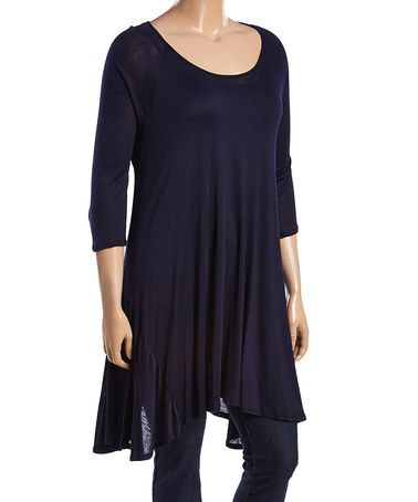 This Navy Sidetail Tunic - Plus is perfect! #zulilyfinds