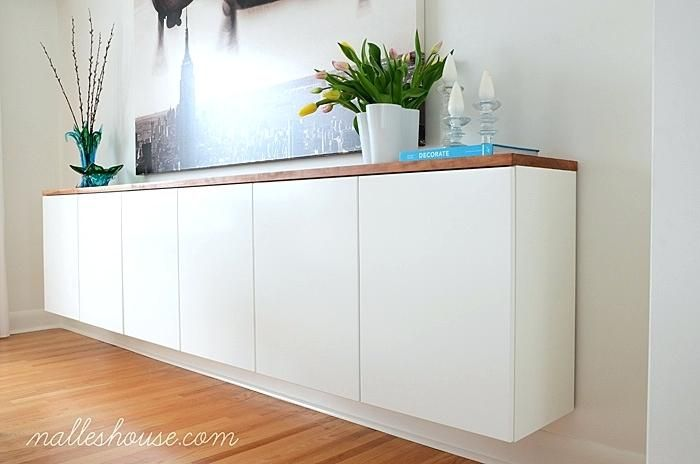 Charming Ikea Floating Cabinet Sideboard 3 Kitchen Cabinets Mounted On The Wall Besta Tv Unit