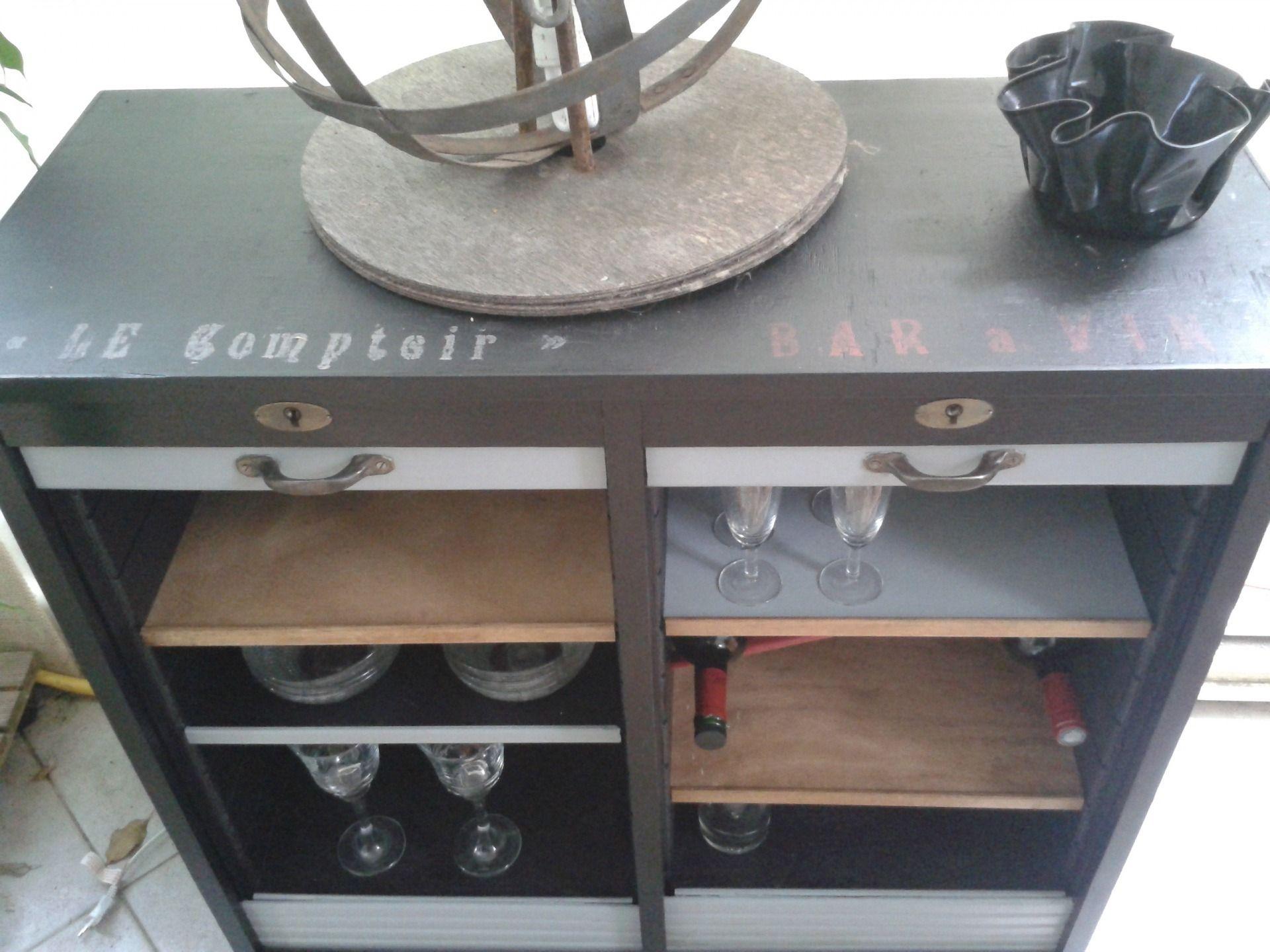 buffet bar comptoir style bistrot chic meubles et rangements par d cosmose rangements. Black Bedroom Furniture Sets. Home Design Ideas