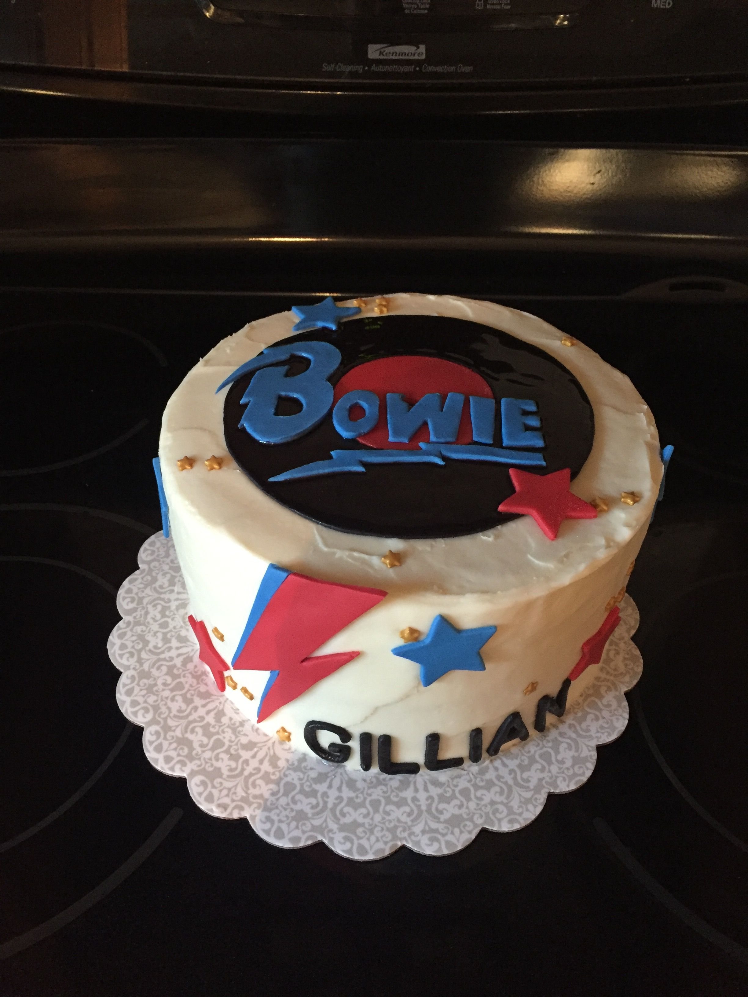 Bowie Cake Bowie Birthday David Bowie Birthday Dad Cake