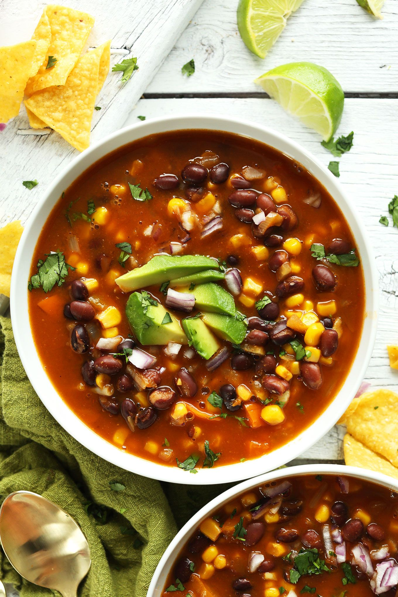 Black Bean Tortilla Soup | Minimalist Baker Recipe