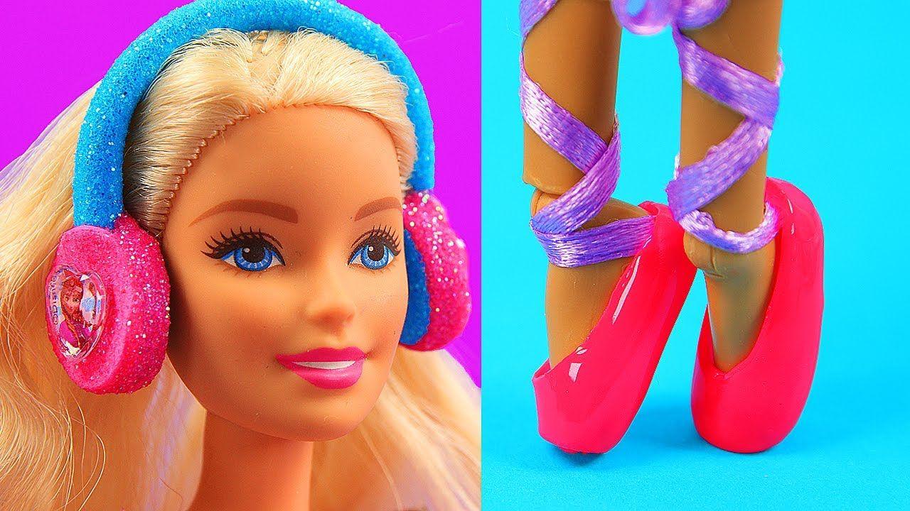 10 DIY Barbie Hacks Barbie Headphones Baby Stroller