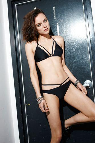 866a2ef9d8 Evil Twin Strappy Triangle Bikini Black
