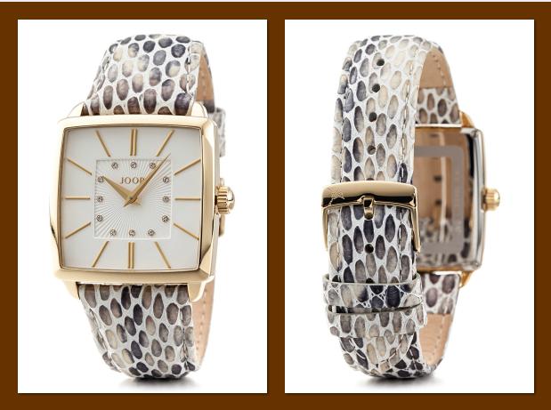 Quarzuhr mit funkelndem Ziersteinbesatz von Joop! Timewear & Jewels.