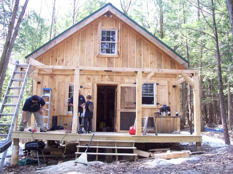Diary of a 20x24 cabin going up in NH great pictures for ideas LOVE the usable shutters and