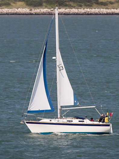 The Westerly Konsort yacht 'Sassy' sailing in the Solent