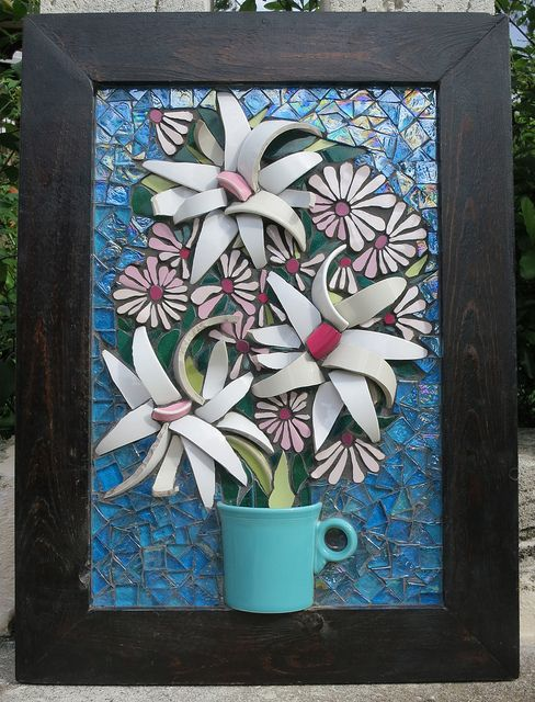 Flower Mosaic - For Auntie Kay! by Nikki Murray-Mason, Nikki Inc Mosaics, Bermuda    IMG_2052* by Nikki Inc Mosaics, via Flickr