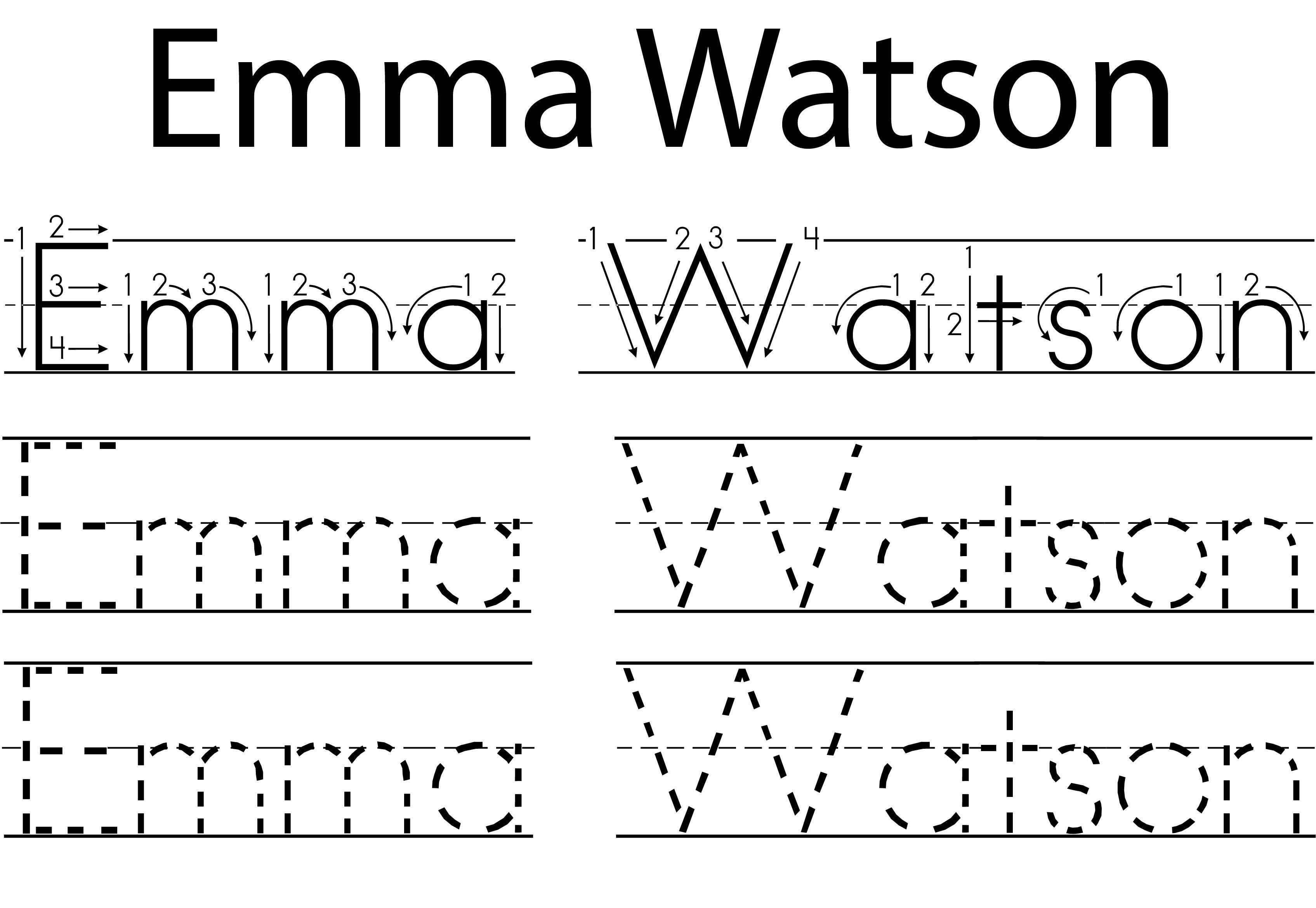 Personalized Printable Name Tracing Worksheet Pre Cursive