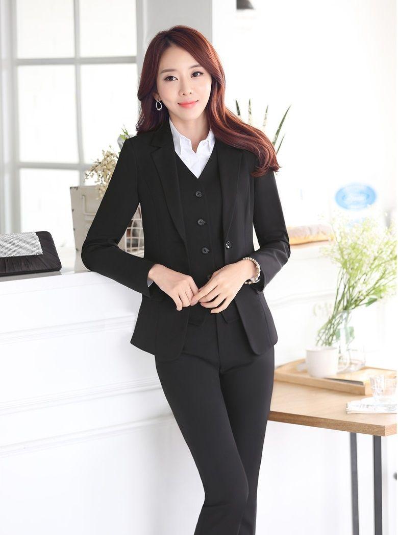2015 Autumn Winter Elegant Black Professional Business